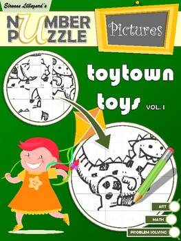 Toytown Toys Number Puzzle Pictures Volume I