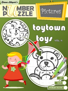 Toytown Toys Number Puzzle Pictures Volume II