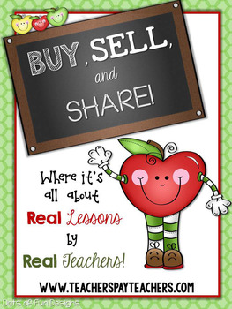 TpT Advertising Button Image ~Dots of Fun Designs~