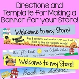 TpT Easy Directions and Template for Making a Banner for y