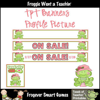 TpT Banners--On Sale Shopping Froggies