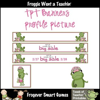 TpT Banners--Hop On Over For a Big Sale