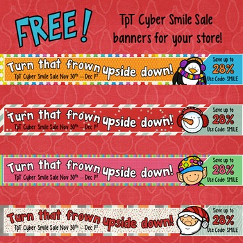 TpT Cyber Sale Banners - FREE