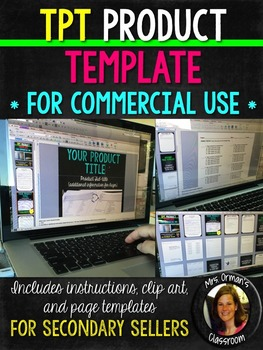 TpT Product Template for Secondary Sellers