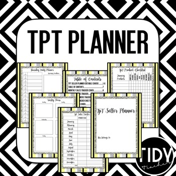 Planner for Teachers pay Teachers Sellers! (Yellow, Black