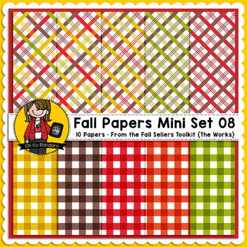 TpT Seller Toolkit {Fall Paper Mini Set 08}