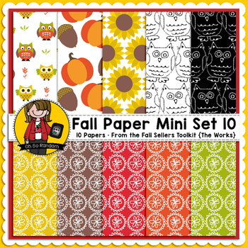TpT Seller Toolkit {Fall Paper Mini Set 10}