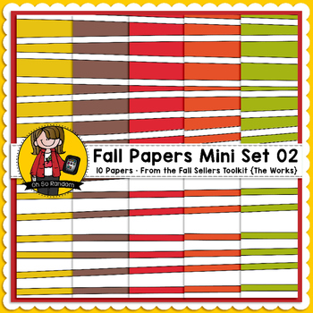 TpT Seller Toolkit {Fall Paper Mini Set 02}