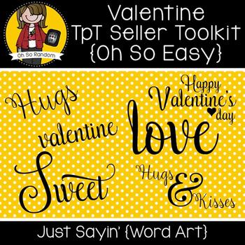 TpT Seller Toolkit {Valentine Words}