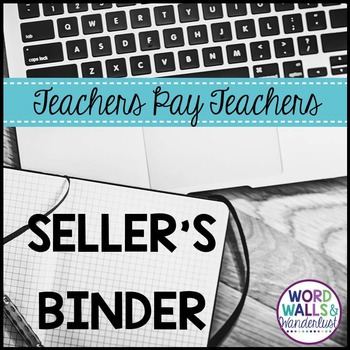 TpT Sellers Binder - Social Media and Financial Tracking