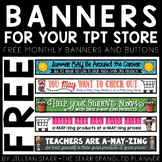 TpT Store Banners {A FULL YEAR OF BANNERS}