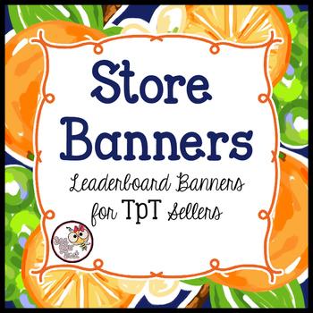 TpT Store Leaderboard Banner           ORANGE ZEST