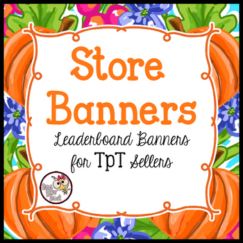 TpT Store Leaderboard Banner PRETTY PUMPKINS