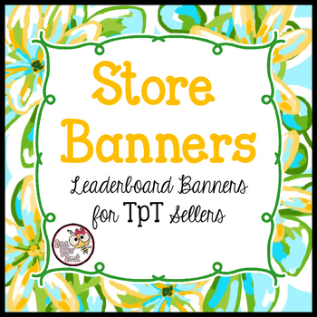 TpT Store Leaderboard Banner TROPICAL BLOOMS