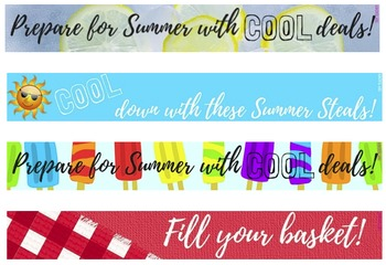 free tpt summer banners