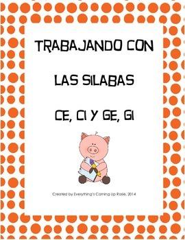 Trabajando con las silabas ce, ci, ge, gi - working with s