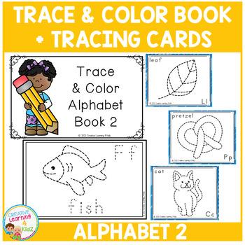 Trace & Color Alphabet Book 2 + Tracing Cards Fine Motor Skills