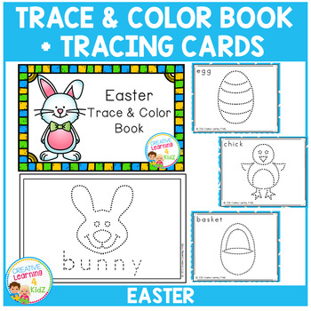 Trace & Color Easter Book + Tracing Cards Fine Motor Skills