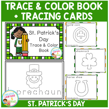 Trace & Color St. Patrick's Day Book + Tracing Cards Fine