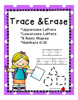 Trace & Erase Letters, Numbers, & Shapes!