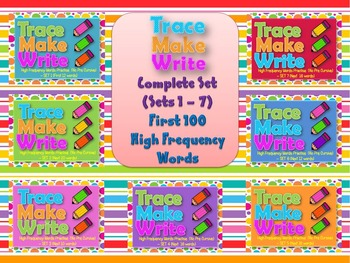 Trace Make Write Complete Set 1 to 7 100 High Frequency Wo