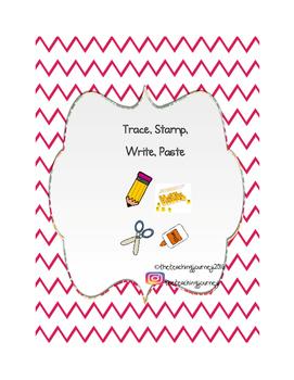 Trace, Stamp, Write, Paste