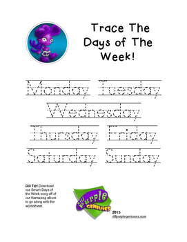 Trace The Days of The Week