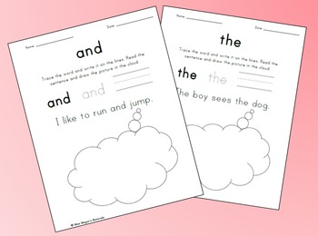 Trace, Write & Draw Worksheets (and, the)