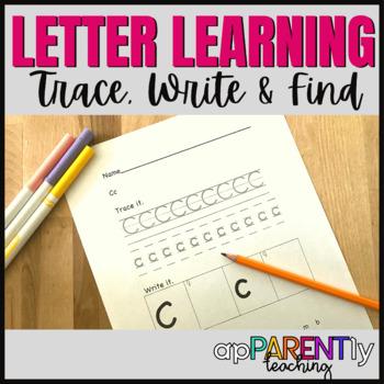 Trace Write and Find Alphabet Workbook-Morning Work-Fine Motor