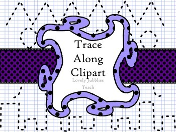 Trace along: Handwriting Strokes Clip Art