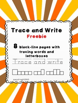 Trace and Write Freebie