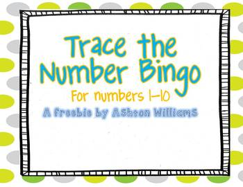 Trace the Number Bingo {FREEBIE}
