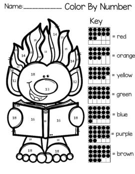 Trolls Color By Teen Numbers