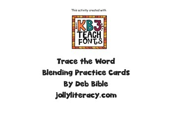 Trace the Words Blending Cards
