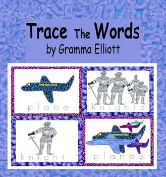 Trace the Words Cards K-1