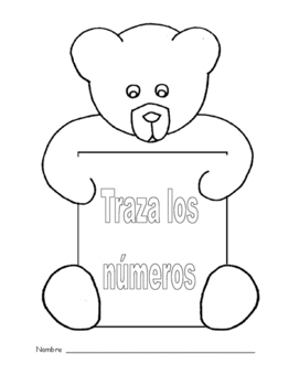 Trace the numbers in Spanish/Traza los números en Español