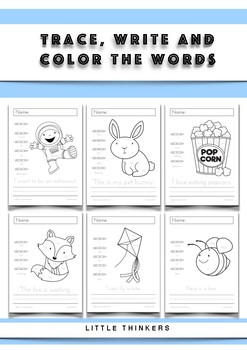 Trace, write and color the words - Activity Pages