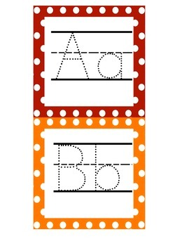 Traceable ABC Cards