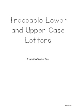 Traceable Lower and Upper Case Alphabet - Individual Letters