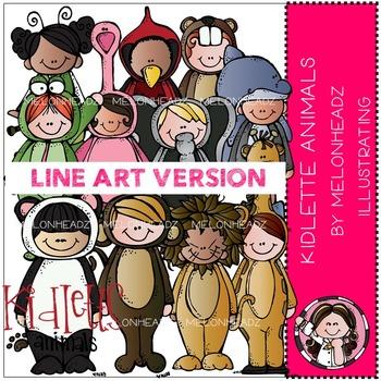 Tracey's kidlette animals by Melonheadz LINE ART