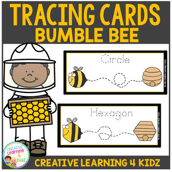 Tracing Cards Bumble Bee Set Fine Motor Skills