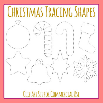 Tracing Christmas Shapes for Fine Motor Control or Christm
