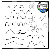 Tracing and Pinning Lines Clipart Bundle