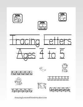 Tracing Letters Ages 4 to 5