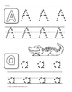 Tracing Letters Work Sheets