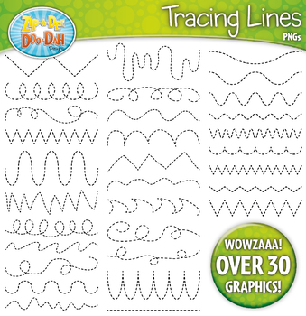 Tracing Lines Clipart Set 1 — Includes 15 Graphics!