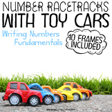 Tracing Numbers - Race Track with Parking 10 Frame