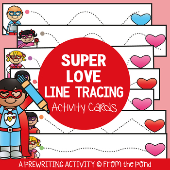 Valentine's Day Center {Tracing Practice}