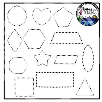 Tracing and Pinning Shapes Clipart Bundle