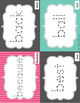 Tracing Sight Word Cards 2nd 100 Instant Sight Words for Centers